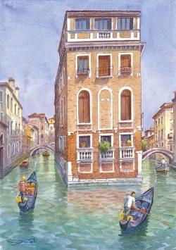 20 Venezia - Visione romantica, i due canali