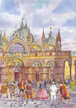 21 Venezia - Le Maschere Veneziane in Piazza San Marco