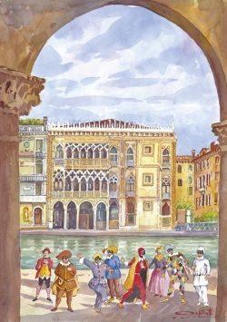 22 Venezia - Le Maschere in palcoscenico a la Cà D'Oro