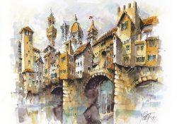 002c Firenze - Foto di gruppo al Ponte Vecchio