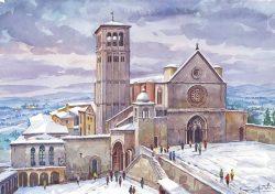 03 Assisi - Basilica di San Francesco innevata