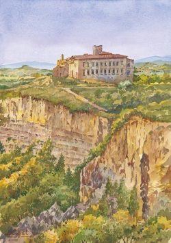 03 Volterra - Le Balze e la vecchia Badia Camaldolese