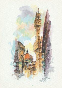 030q Firenze - Il Cupolone e la Torre di Arnolfo