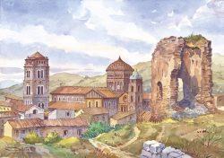 33 Caserta - Il borgo medievale e l'antico rudere