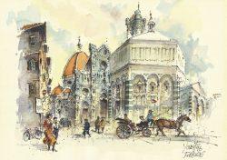 003c Firenze - Il Battistero e la Cattedrale
