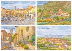 04 Quattro Immagini - Greve, Montefioralle, Volpaia, Radda.