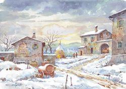 04 Vita Rurale - Campi e case coloniche sotto la neve