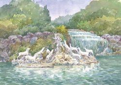 40 Caserta - Parco Reale: Fontana di Atteone