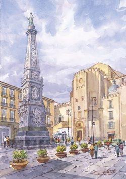 42 Napoli - Piazza San Domenico Maggiore e Chiesa