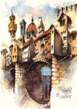 004c Firenze - Monumenti riuniti al Ponte Vecchio