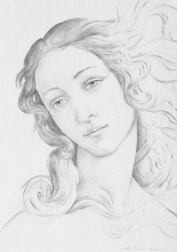 """06 Omaggio a Botticelli: Particolare della """"Nascita di Venere"""""""