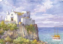 06 Isola d' Ischia - La chiesa del Soccorso a Forio