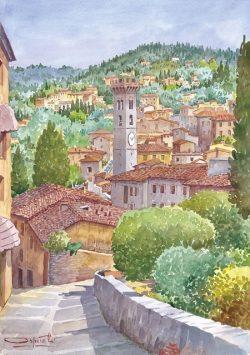 07 Fiesole - Strada che porta al convento di San Francesco