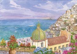 "07 Positano - Panorama caratteristico e isola ""Li Galli"""