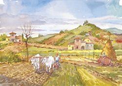 07 Vita Rurale - Faticoso lavoro di preparazione alla semina