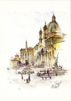 07q Roma - Piazza Navona, Chiesa di Santa Agnese in Agone