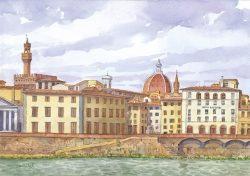 009 Firenze - Panorama dal Lungarno Serristori