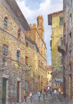 09 Volterra - Vicolo, che porta alla Piazza dei Priori