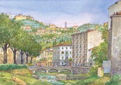 95 Fiesole - Veduta dal Ponte delle Riffe