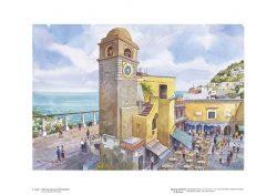 """Poster 01 Capri: Vista sul mare da """"La Piazzetta"""""""