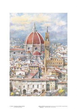 Poster 01 Firenze: Il Cupolone e Palazzo Vecchio