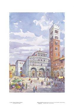 Poster 01 Lucca: Piazza San Martino, il Duomo