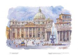 Poster 01 Roma: Piazza San Pietro e Basilica
