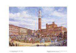 Poster 01 Siena: Piazza del Campo, Il Palio, 2 luglio, 16 agosto