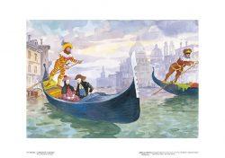 Poster 10 Venezia: Le maschere in gondola