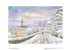 Poster 11 Firenze: Panorama della città sotto la neve