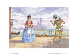 Poster 11 Venezia: Arlecchino e Colombina
