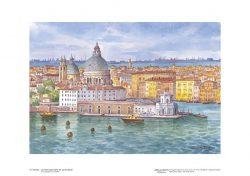 """Poster 12 Venezia: La Chiesa della Salute da """"La Giudecca"""""""