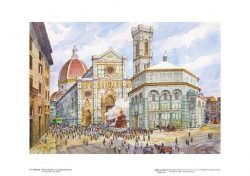 Poster 16 Firenze: Piazza Duomo, lo Scoppio del Carro