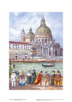 Poster 16 Venezia: Le Maschere alla Chiesa della Salute