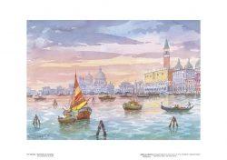 Poster 18 Venezia: Panorama al tramonto