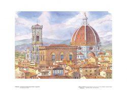 Poster 19 Firenze: Il Campanile di Giotto, Orsanmichele, il Cupolone