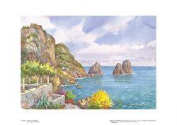 Poster 02 Capri: L' isola e i faraglioni