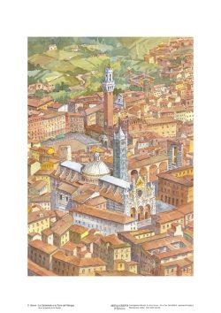 Poster 02 Siena: La Cattedrale e la Torre del Mangia
