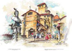Poster 20 Firenze: Busto di B. Cellini sul Ponte Vecchio