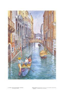 Poster 21 Venezia: Verso il ponte dei Sospiri...sospirando