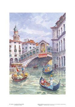 Poster 22 Venezia: In gondola al Ponte di Rialto