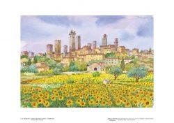 Poster 03 S. Gimignano: I girasoli guardano il sole e... le belle torri