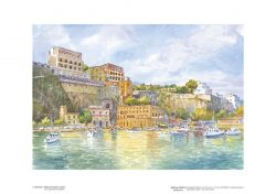 Poster 03 Sorrento: Marina Piccola, il porto