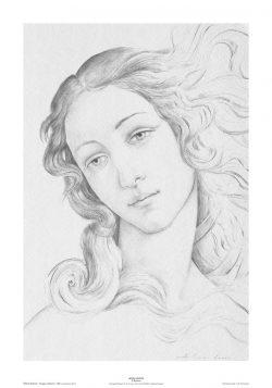 """Poster 01 Omaggio a Botticelli: Particolare della """"Nascita di Venere"""""""