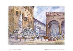 Poster 04 Firenze: Angolo affascinante in Piazza Signoria