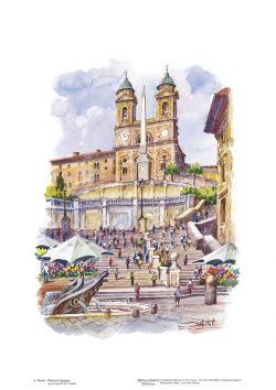 Poster 04 Roma: Piazza di Spagna, Trinità dei Monti