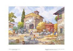 Poster 04 Vita Rurale: La battitura del grano