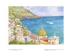 Poster 05 Positano: Scorcio panoramico e il suo incantevole mare