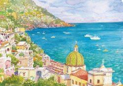 Poster 06 Positano: Scorcio panoramico e il suo incantevole mare
