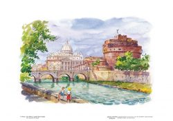 Poster 06 Roma: San Pietro e castel Sant' Angelo